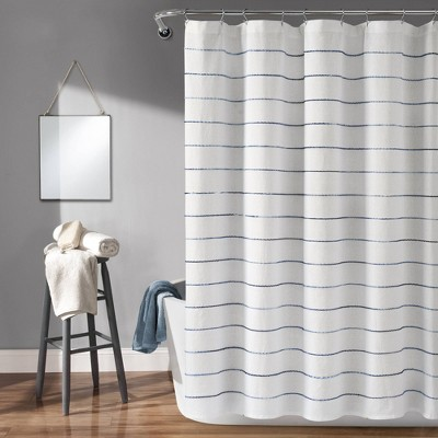 Ombre Striped Yarn Dyed Cotton Shower Curtain - Lush Décor