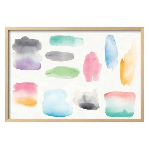 Watercolor Swatch Element by Elyse DeNeige Framed Art Print - Art.com - image 1 of 3