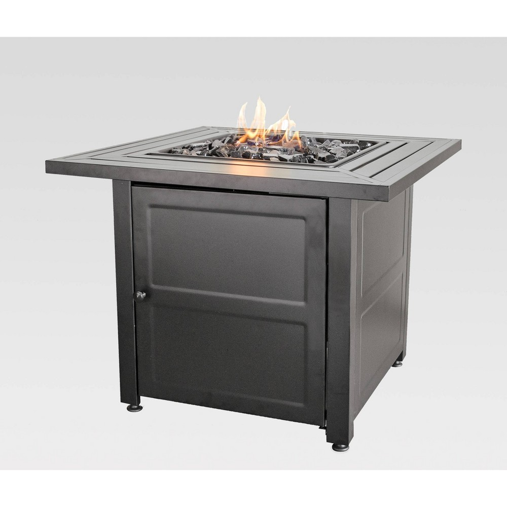 "Image of ""30"""" Outdoor Patio Gas Fire Pit with Steel Mantel Gray - Endless Summer"""