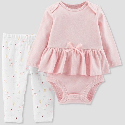 Baby Girls' 3pc Skirt Set - Little Planet by Carter's Pink 3M
