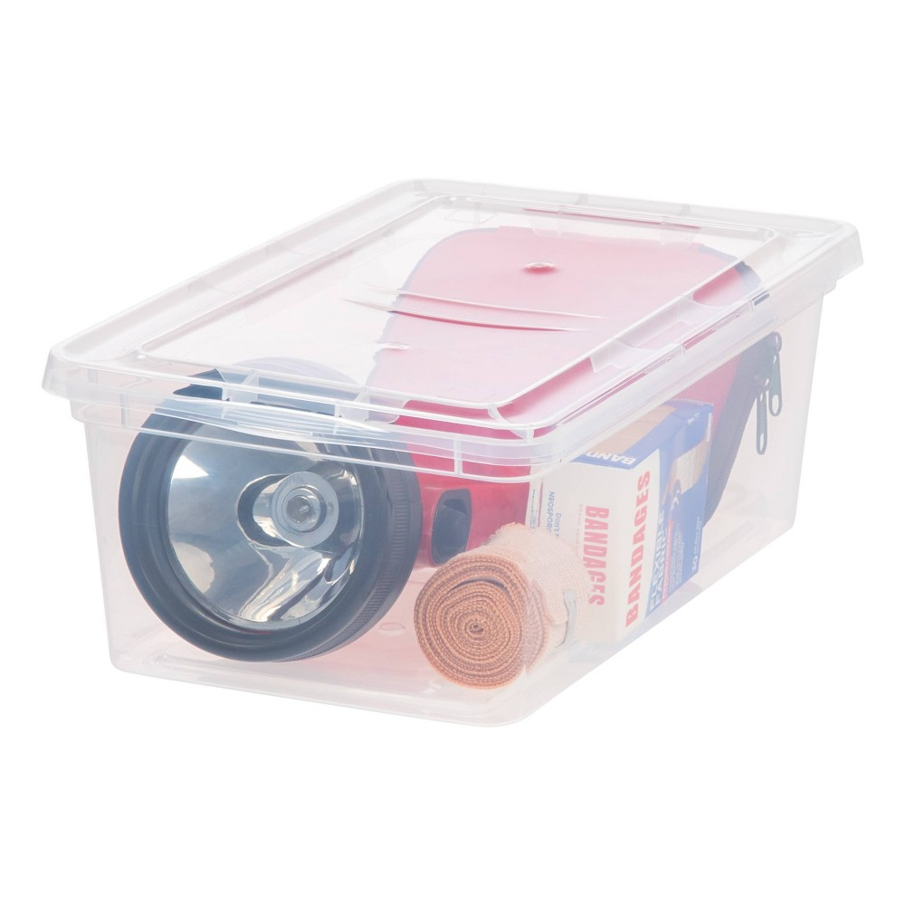 Image of IRIS 6qt 12pk Natural Clear Storage Box with Natural Clear Lid