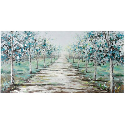 The Road Less Traveled Hand Painting on Stretched Unframed Wall Canvas - StyleCraft