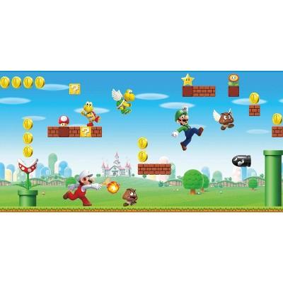 Super Mario Scene Peel & Stick Wall Border - RoomMates