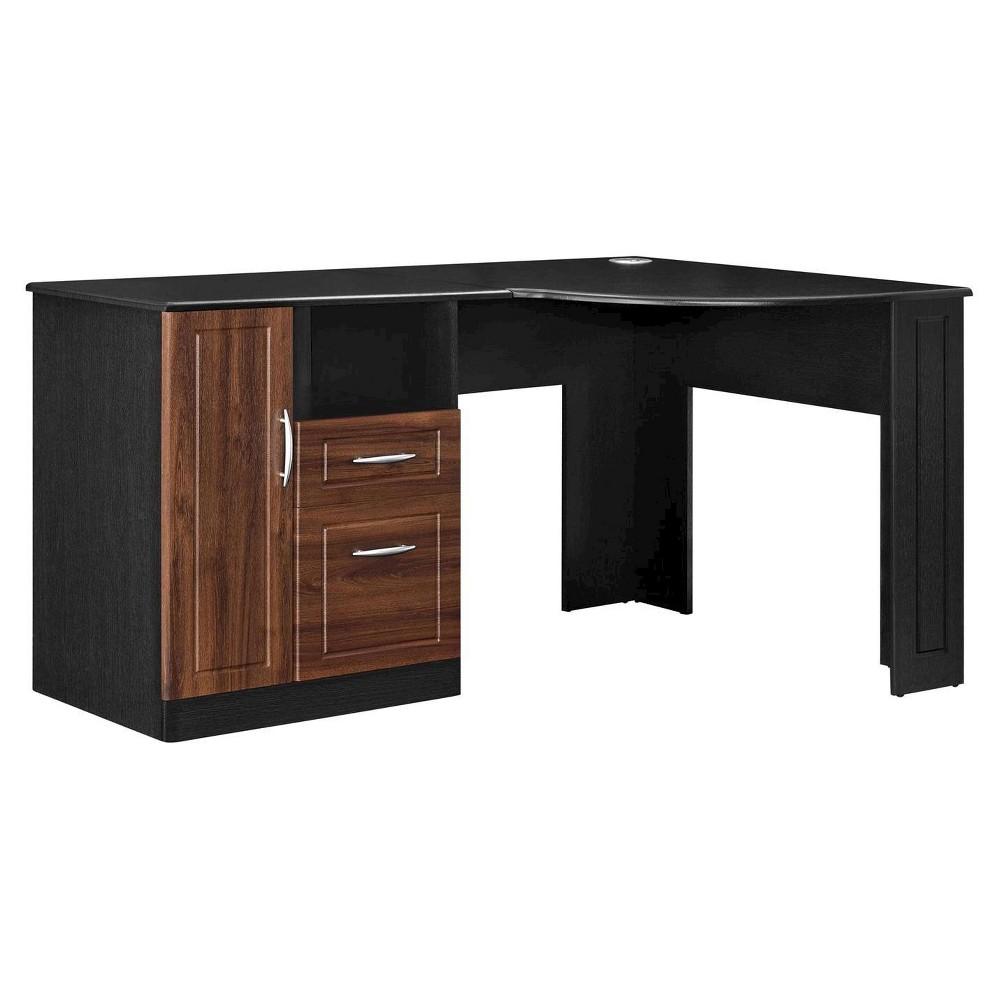 Borden Corner Desk - Cherry/Black - Room & Joy