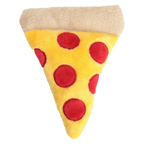 Mini Pizza Plush Dog Toy Squeaks - Yellow - M - Boots & Barkley™ - image 1 of 4