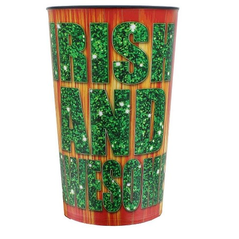 """Just Funky """"Irish and Awesome"""" 32oz Stadium Cup - image 1 of 1"""