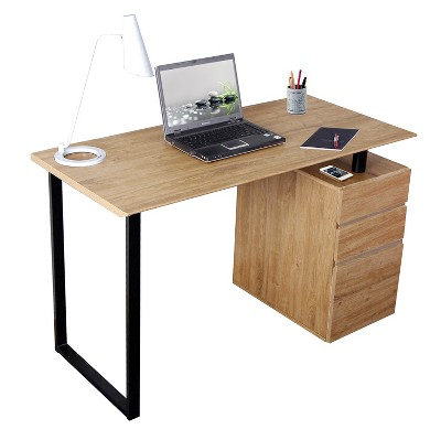 Computer Desk with Storage and File Cabinet Wood - Techni Mobili
