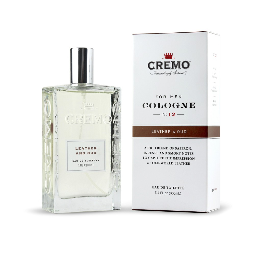 Image of Cremo Leather & Oud Spray Cologne - 3.4 fl oz