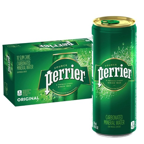 Perrier Carbonated Mineral Water - 10pk/8.45 fl oz Slim Cans - image 1 of 4