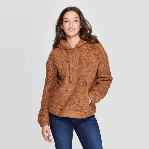 Women's Crewneck Sherpa Sweatshirt Hoodie (X-Small – Plus Size 4X)  - Universal Thread™ - image 1 of 4
