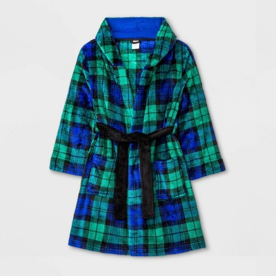Boys' Plaid Robe - Cat & Jack™ Green/Blue