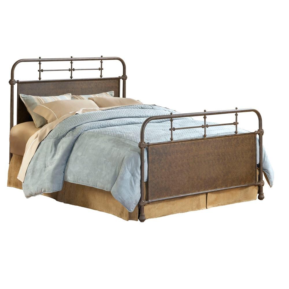 Kensington Metal Bed - King - Old Rust (Red) - Hillsdale Furniture