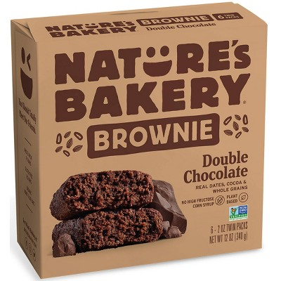 Nature's Bakery Double Chocolate Brownie - 6ct