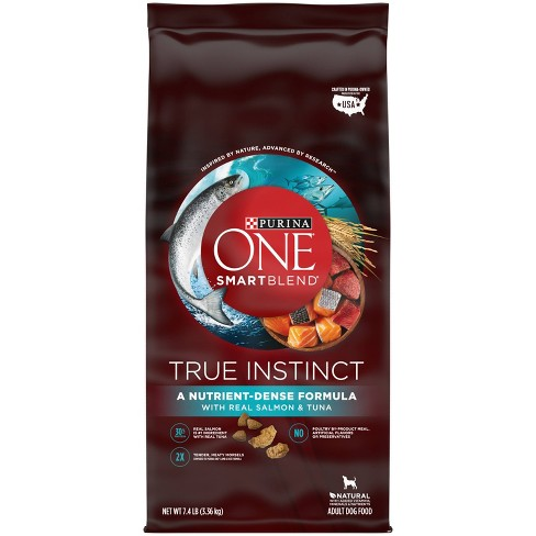 Purina ONE SmartBlend True Instinct with Real Salmon & Tuna Adult Dry Dog Food - image 1 of 4
