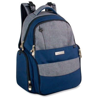 Fisher-Price Skye Diaper Backpack - Blue/Gray