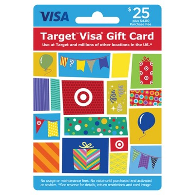 Visa Gift Card - $25 + $4 Fee
