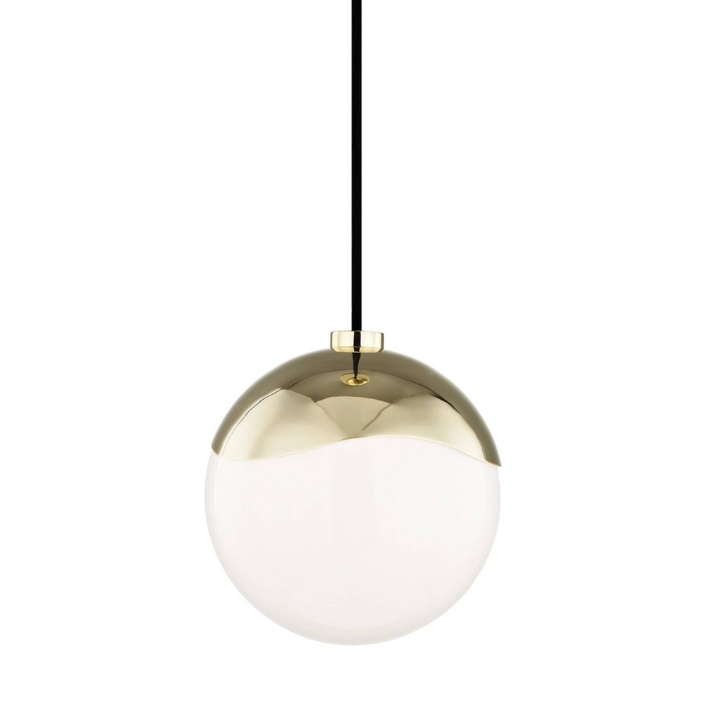 Ella 1-Light Small Pendant Chandelier Aged Brass - Mitzi by Hudson Valley Buy