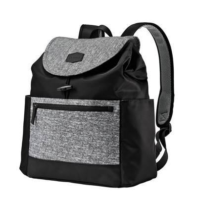 JJ Cole Mezona Cinch Top Backpack Diaper Bag - Black Asphalt