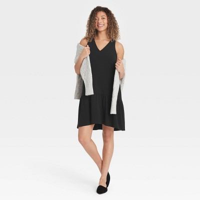 Women's Sleeveless Hem Knit Dress - A New Day™