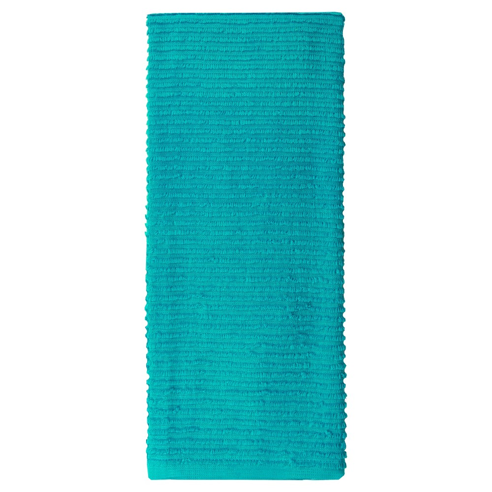 "Image of ""18""""x28"""" 2pk Cotton Ridged Kitchen Towel Aqua - MUkitchen"""