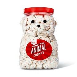 White Fudge Animal Cookies - 44oz - Market Pantry™
