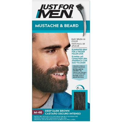 Just For Men Mustache and Beard Easy Brush-In Facial Hair Color Gel - 1oz