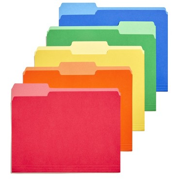 TRU RED Heavyweight Colored File Folders; Letter 3 Tab 50/Box 810351