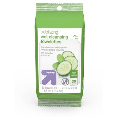 Exfoliating Cleansing Towelettes 30 ct - up & up™