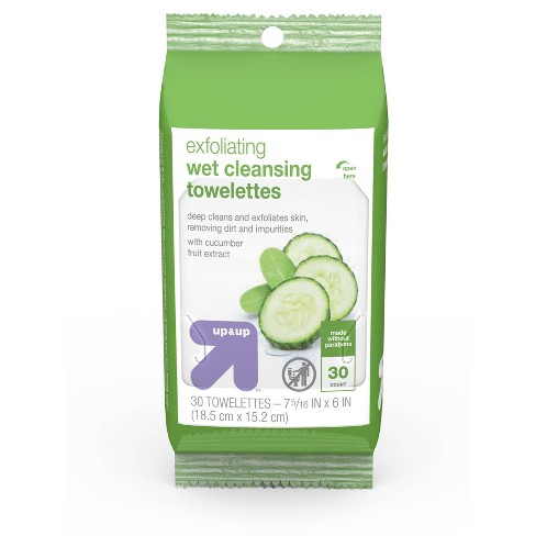 Exfoliating Cleansing Towelettes 30 ct - Up&Up™ - image 1 of 4