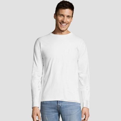 c94c4fda4ba Hanes Men's Big & Tall Long Sleeve 4pk Comfort Soft Crew T-Shirt ...