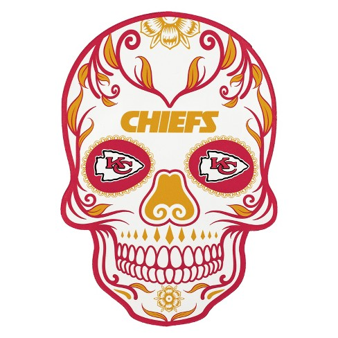 NFL Kansas City Chiefs Small Outdoor Skull Decal - image 1 of 2