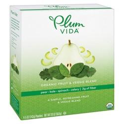 Plum Vida Organic Pear-Kale-Spinach-Celery Fruit and Veggie Juice Blend - 4pk/5 fl oz Pouch