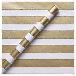 Gold Glitter Stripe Gift Wrap - Spritz™