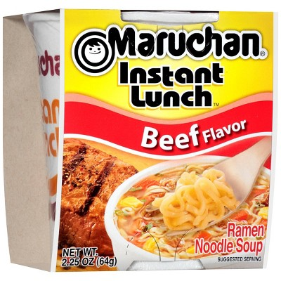 Maruchan Instant Lunch Beef Flavor Noodle Soup 2.25oz