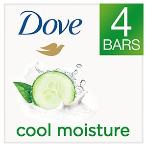 Dove go fresh Cool Moisture Beauty Bar 4 oz, 4 Bar