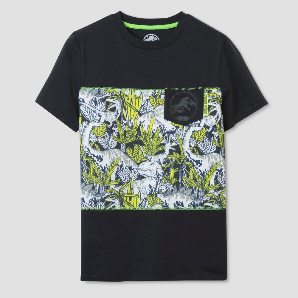 Boys' Jurassic World Short Sleeve T-Shirt - Black S