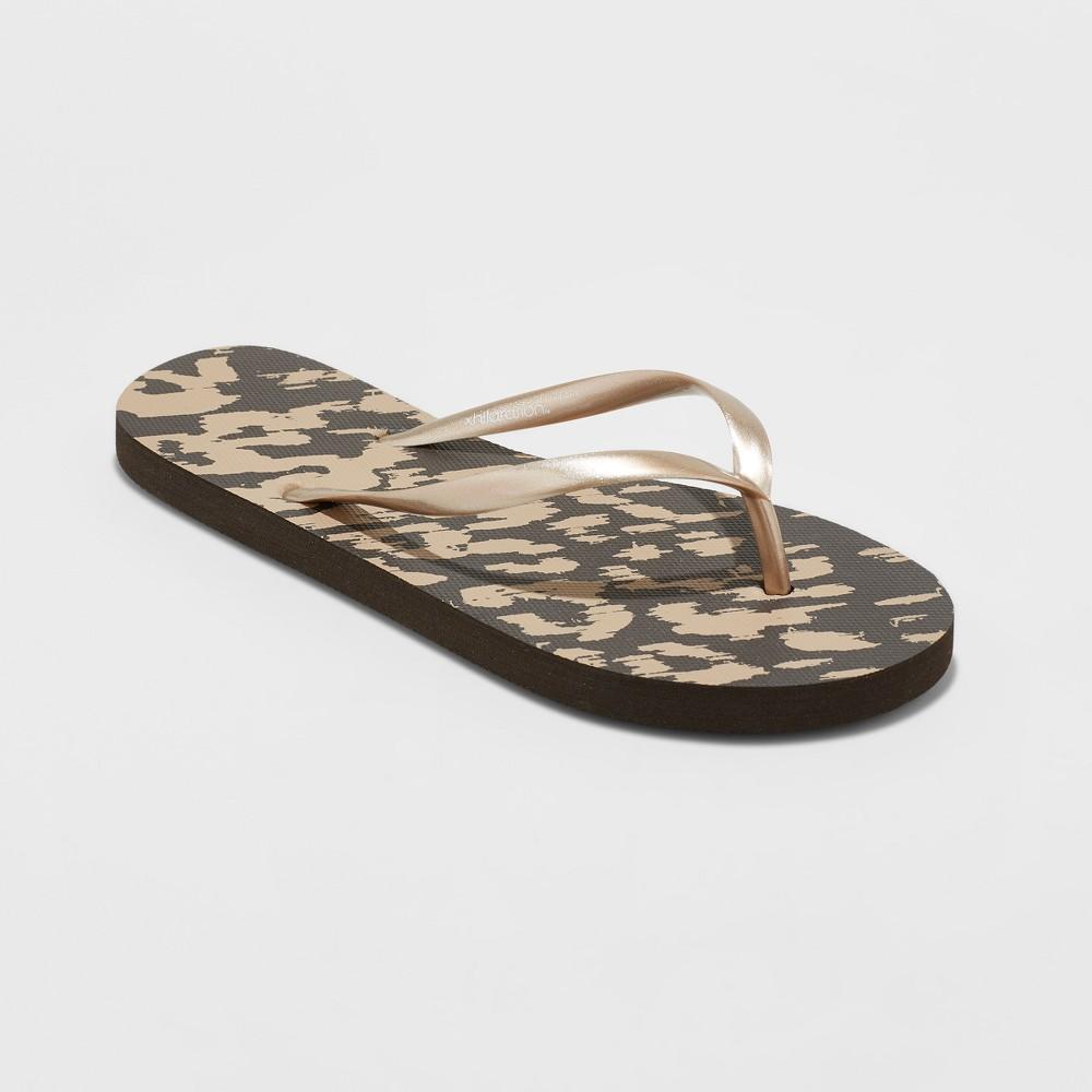 Women's Letty Flip Flop Sandal - Xhilaration Leopard 6