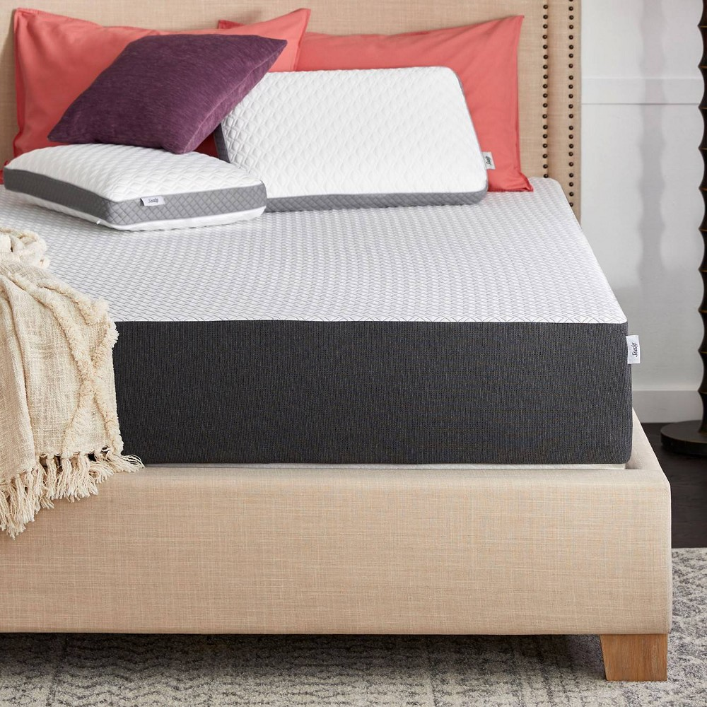 Sealy 10 34 Memory Foam Mattress In A Box With Cool 38 Clean Cover Full