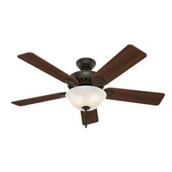 """52"""" Pro's Best Five Minute Fan Lighted Ceiling Fan Bronze - Hunter Fan"""