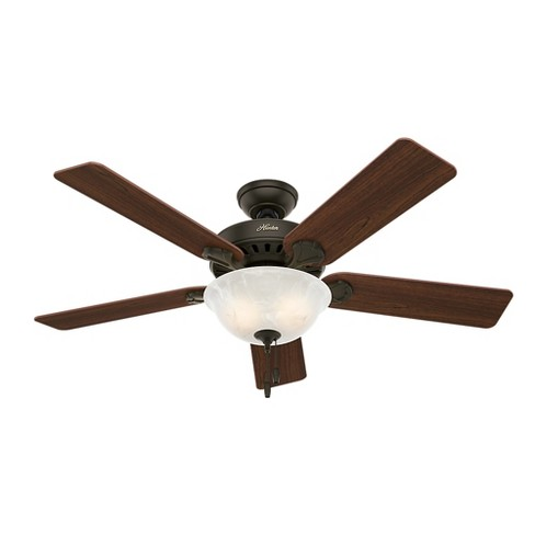 "52"" Pro's Best Five Minute Fan Lighted Ceiling Fan Bronze - Hunter Fan - image 1 of 5"