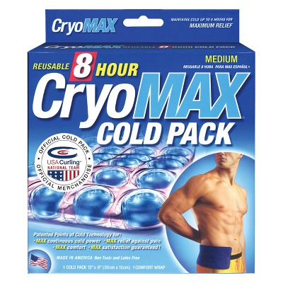 "CryoMAX 8 Hour Reusable Cold Therapy Ice Pack - Medium - 6"" x 12"""