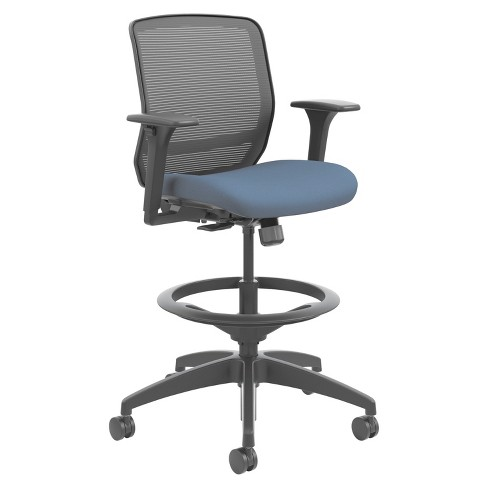 HON® Quotient Series Mesh Mid-Back Task Stool, Cerulean - image 1 of 1
