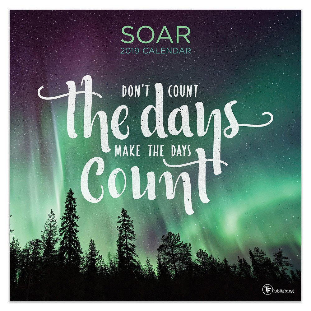 2019 Wall Calendar Nature with Quotes - TF Publishing, 2019 Tf Publishing Soar Wall Calendar