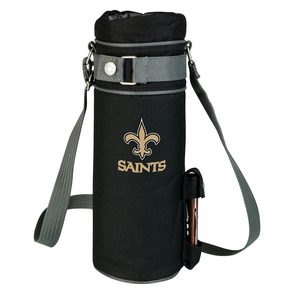 New Orleans Saints - Wine Sack Beverage Tote by Picnic Time (Black)
