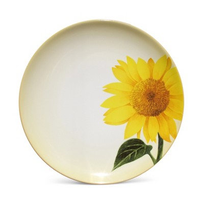 Noritake Colorwave Mustard Sunflower Floral Accent Plate