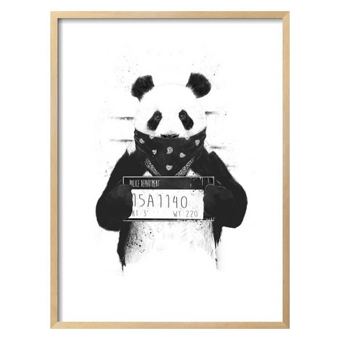 Bad Panda by Balazs Solti Framed Art Print - Art.com - image 1 of 3
