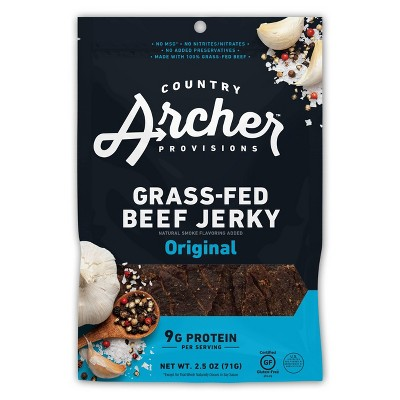 Country Archer All Natural Grass Fed Original Beef Jerky - 2.5oz