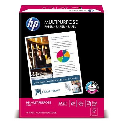 Hp Multipurpose Paper 96 Bright 20 lb Letter White 2500 Sheets/Carton 115100