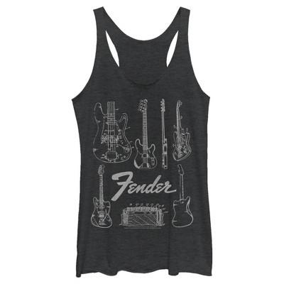 Women's Fender Guitar Chart Racerback Tank Top