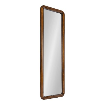 "16"" x 48"" Pao Full Length Wall Mirror Walnut Brown - Kate & Laurel All Things Decor"